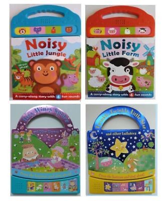 Noisy Jungle Farm Twinkle Twinkle Incy Wincy Set Of 4 Sound Books Ages 0 Months+