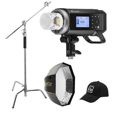 """Flashpoint XPLOR 400PRO R2 TTL Monolight Kit With Glow 48"""" Octa and C-Stand"""