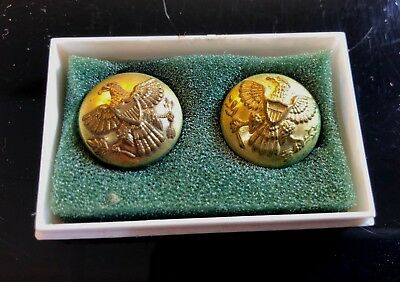 Vintage Rare Indian Wars Era Us Army Kepi/cuff Buttons Authentic In Case