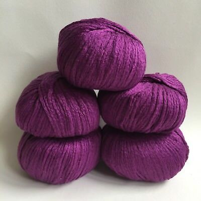Debbie Bliss (Pure Bliss)  Sita - 5 x 50g - Mulberry Silk & Cotton - 015 Damson