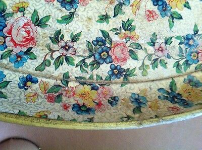 Antique Floral Shabby Hand Painted Dresser/Serving Tray ~ RARE