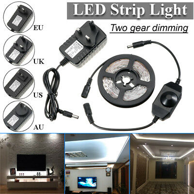 4M LED 240smd Lampe Bande Dimmable Flexible Strip Lumière Eclairage Blanc 12V
