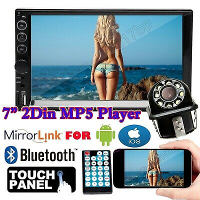 """Camera+7"""" Double Din Car Stereo Radio MP5 Player 1080p Mirrors For Android & IOS"""