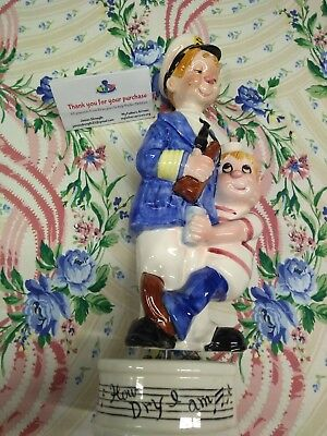 "VINTAGE ""How Dry I Am""  Musical Base decanter FREE SHIPPING A1"