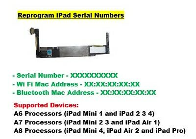 iPad mini 1 2 3 4 iPad Air 1 2 iPad Pro Serial Number for NAND iCloud Unlock