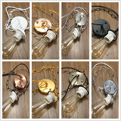 E27/E26 Ceiling Rose Chain Pendant Chandelier Light Lamp Holder Fitting Kit