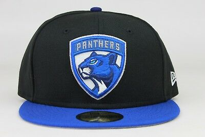 innovative design ccf33 98055 Florida Panthers Black Royal Blue White Jordan 1 NHL New Era 59Fifty Fitted  Hat