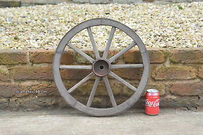 Vintage old wooden cart wagon wheel  / 46 cm FREE DELIVERY