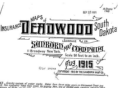 Sanborn Map© sheets of Deadwood, South Dakota put on a CD