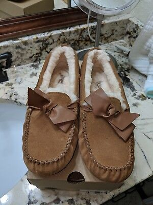 c0003ec6959 UGG AUSTRALIA DAKOTA Leather Bow Slipper - Womens - $94.95 | PicClick