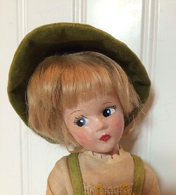 Madame Alexander Wendy Ann 9 In Composition Swiss Boy Doll 1930s Tagged Clothes