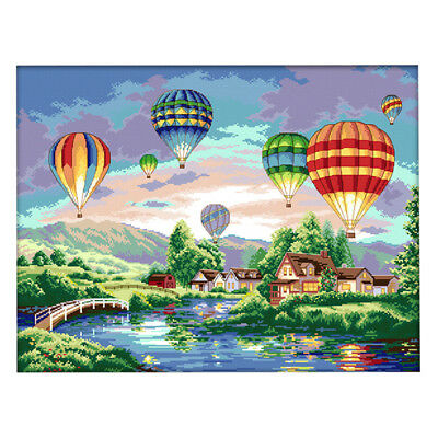 Counted Cross Stitch Kit Cross-Stitch Hand Embroidery Kit Hot Air Balloon