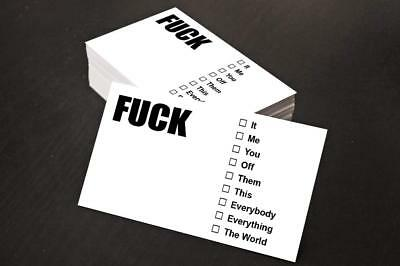 """Aahs Engravings""""F*ck"""" Business Cards, 25ct"""