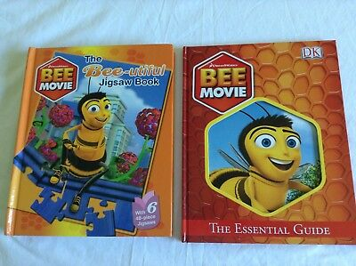 2 Bee Movie Books - The Essential Guide & Bee-Utiful Jigsaw Book