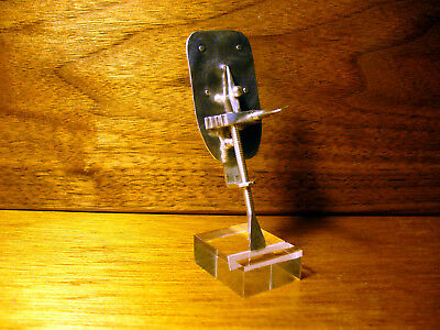"""Sterling Silver Leeuwenhoek Microscope """"Antique"""" Hand Made Reproduction"""