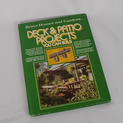 Better Homes Gardens Deck Patio Projects You Can Build 1977 Vintage Construction