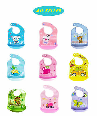 1/3 PCS Baby Infant Kids Bibs Saliva Detached Pocket Waterproof silicone Feeding