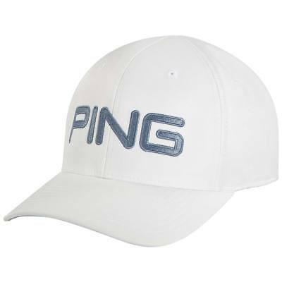 NEW! PING TOUR Structured Fitted Golf Hat Cap Sensorcool Black White ... c58e5ac453a6