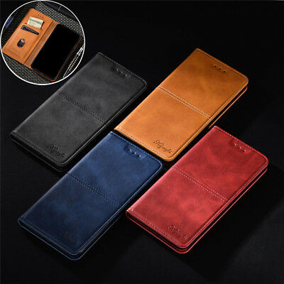 For OnePlus 6T 6 5T 5 Luxury Business Magnetic Leather Flip Wallet Case Cover
