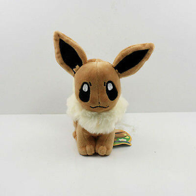 Cute 6 in Pokemon Go Pocket Monster Eevee Plush Toys Soft Stuffed Animals Dolls