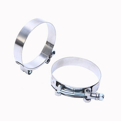 3'' Stainless Steel T-Bolt Turbo Silicone Hose Clamp Intake Intercooler 2 Pcs