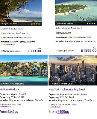 New package Holiday Deals flights included