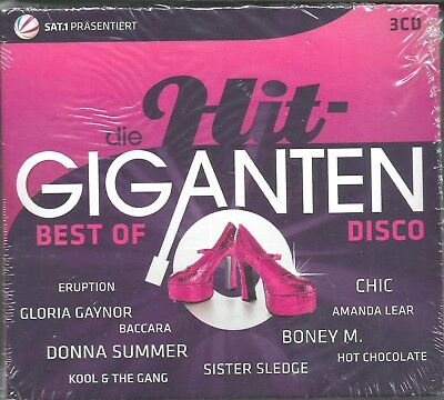 Die Hit-Giganten - Best Of Disco - Dreier-CD-Box Digipak - Neuwertig -