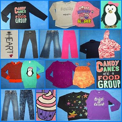 16 Piece Lot Nice Clean Girls Size 7 Fall School Winter Everyday Clothes fw52