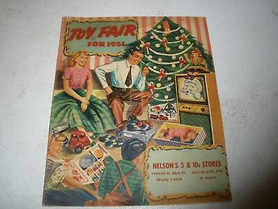 VINTAGE 1951 Toy Fair Sample Book Christmas Catalog