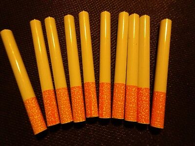 "10X Metal Bat One Hitter Cigarette Style Pipe Large Dugout 3"" Ceramic Coated"