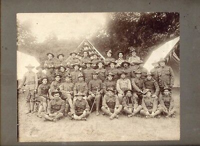 Early US Army Group Photo, Company 2, G Camp, East & New Haven, CT, Luckingham