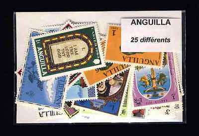 Anguilla 25 stamps different