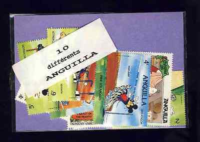 Anguilla 10 stamps different