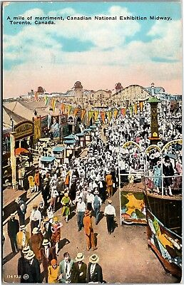 Canadian National Exhibition Midway, Toronto Canada Vintage Postcard I11