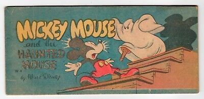 Cheerios Walt Disney #W4 - MICKEY MOUSE AND THE HAUNTED HOUSE - VG 1947 Comic