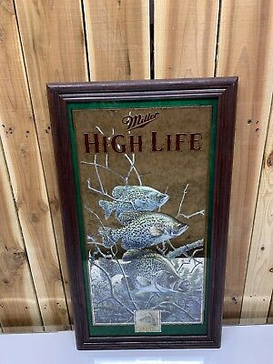 Miller High Life Wild Life Series Crappie Mirror   Very Rare Mint