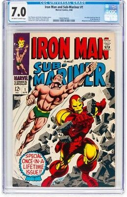 Iron Man and Sub-Mariner #1 (Marvel, 1968) CGC FN/VF 7.0 Off-white to white page