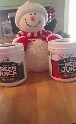 Super Sale Organifi Compo 1 GREEN and  1 RED JUICE Super Food Powd