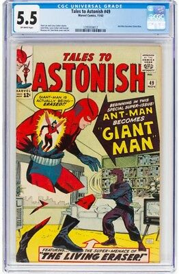 Tales to Astonish #49 (Marvel, 1963) CGC FN- 5.5 Off-white pages.