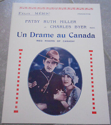 DP UN DRAME AU CANADA Red Riders Canada BYER Patsy Ruth Miller DE LACEY 1928