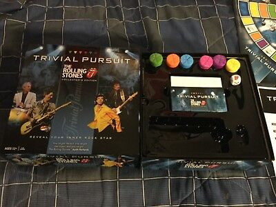 Rolling Stones- Trivial Pursuit- Used Nice Board Game Looks Complete