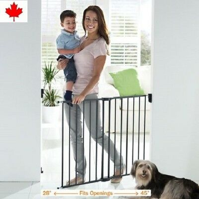 Munchkin Push to Close Safety Extending Metal Baby Gate Easy Installation Canada