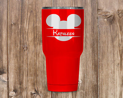 Personalized Disney Mickey Mouse Head Laser Engraved Tumbler 27 Colors