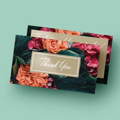 500 Thank You For Your Purchase Business Cards Design Printing 16pt UV Gloss
