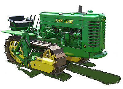 John Deere Model MC canvas art print by Richard Browne crawler tractor