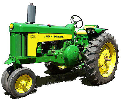 John Deere Model 630 canvas art print by Richard Browne farm tractor