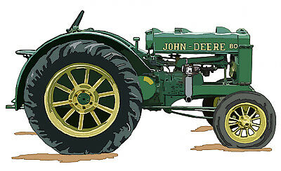 John Deere Model BO canvas art print by Richard Browne Orchard Tractor