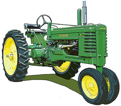 John Deere Late Styled Model B canvas art print by Richard Browne farm tractor