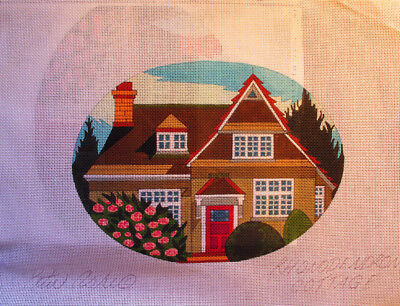 Peter Ashe Rhododendron Cottage Needlepoint Canvas with Stitch Guide