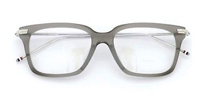 7be1313b6029 New Thom Browne TB 701F Glasses with Gray Acetate Frame and Silver Arms